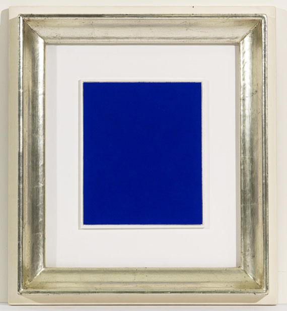 Yves Klein - Monochrome bleu (IKB 262) - Rahmenbild