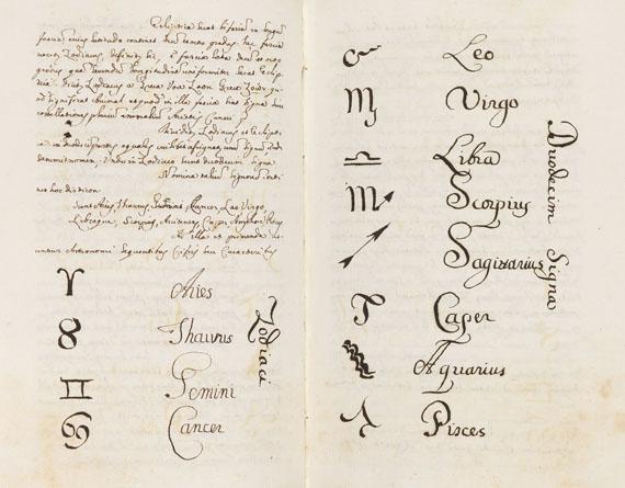 Manuskript - Handschrift Astronomie, Physik, Mathematik. 5 Bde. -