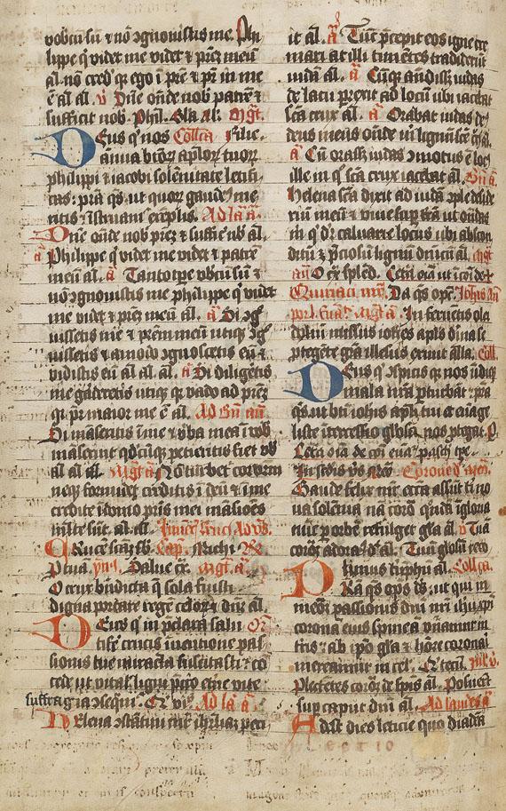 Manuskript - Breviarium (Palimpsest). 1514 -