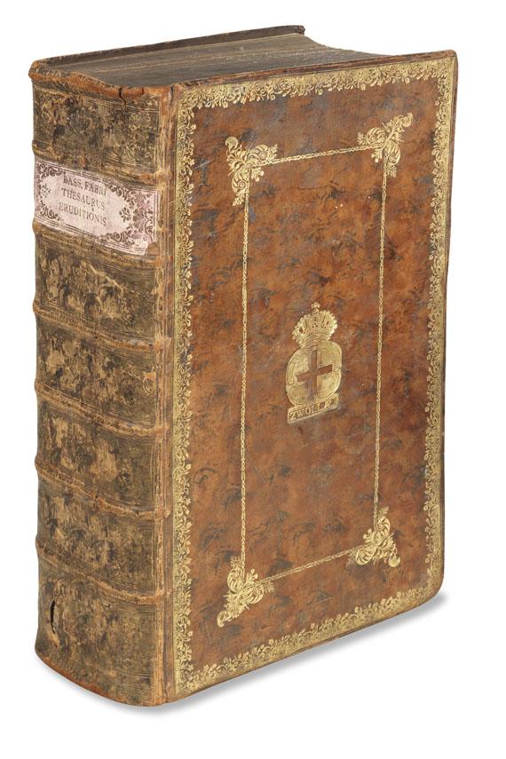 Basilius Faber - Thesaurus eruditionis Scholastiae. 2 Bde. in 1. 1749.  Prachteinband.