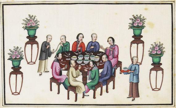 Japanisches Reispapieralbum - Japanisches Reispapieralbum, um 1900.