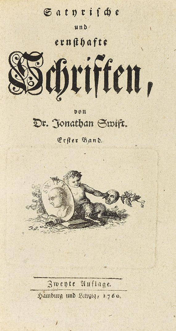 Jonathan Swift - Satyrische und ernsthafte Schriften. 1759-66. 8 Bde.