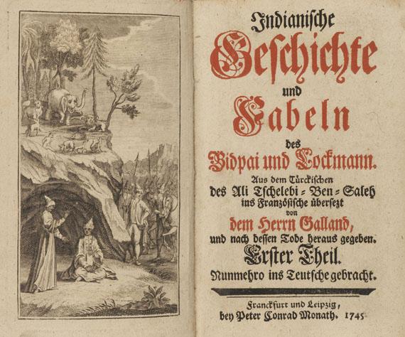 Antoine Galland - Ben-Saleh, Indianische Geschichte und Fabeln