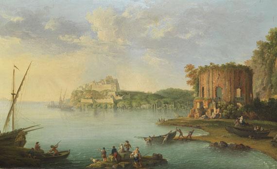 Antonio Joli - Der Golf von Baia mit dem Venustempel und der Festung des Don Pedro de Toledo