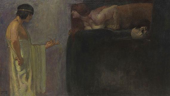 Franz von Stuck - Ödipus löst das Rätsel der Sphinx