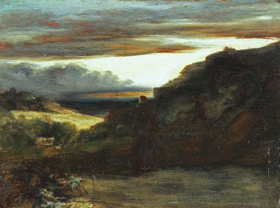 Carl Blechen - Mönch auf der Terrasse
