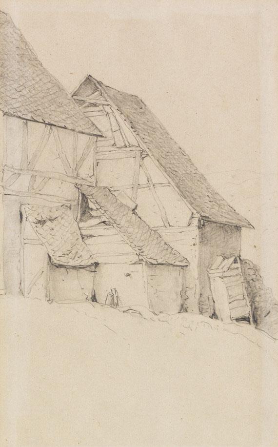 Eugène Joseph Verboeckhoven - Stallungen eines Bauernhofes