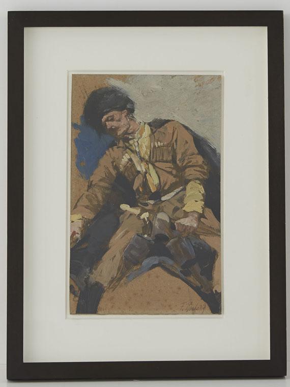 Franz Roubaud - Tscherkessischer Reiter - Rahmenbild