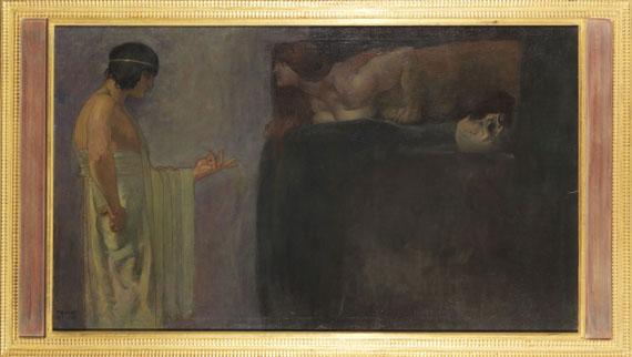Franz von Stuck - Ödipus löst das Rätsel der Sphinx - Rahmenbild