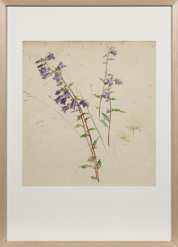 Sophie de Niederhäusern - Glockenblumen - Rahmenbild