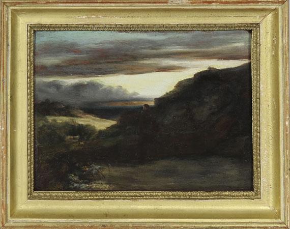 Carl Blechen - Mönch auf der Terrasse - Rahmenbild