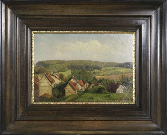 Karl Raupp - Blick auf Willingshausen in Hessen - Rahmenbild