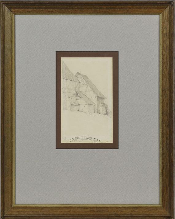 Eugène Joseph Verboeckhoven - Stallungen eines Bauernhofes - Rahmenbild