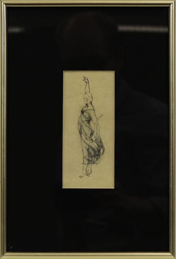 Anton von Werner - Allegorische Frauenfigur mit Füllhorn (Skizzenblatt) - Rahmenbild