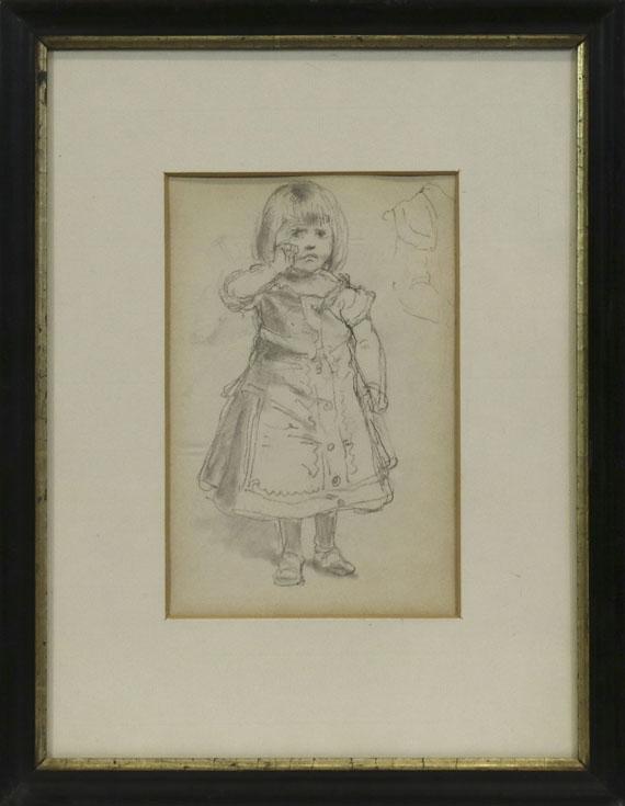 Anton von Werner - Die Tochter des Künstlers - Rahmenbild