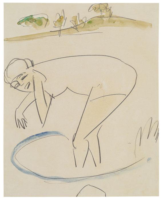 Ernst Ludwig Kirchner - Badende am Ufer