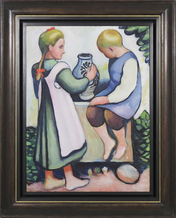 August Macke - Kinder am Brunnen II - Rahmenbild