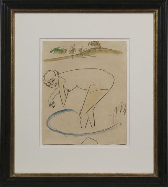 Ernst Ludwig Kirchner - Badende am Ufer - Frame image