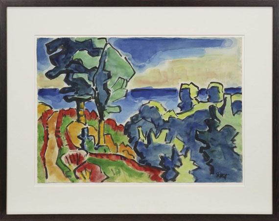 Karl Schmidt-Rottluff - Landschaft - Frame image