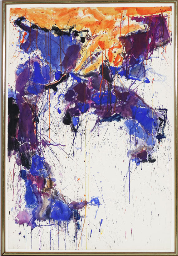 Sam Francis - Over orange (SF58-058) - Rahmenbild
