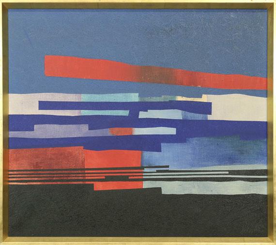 Fritz Winter - Mit Rot - Rahmenbild