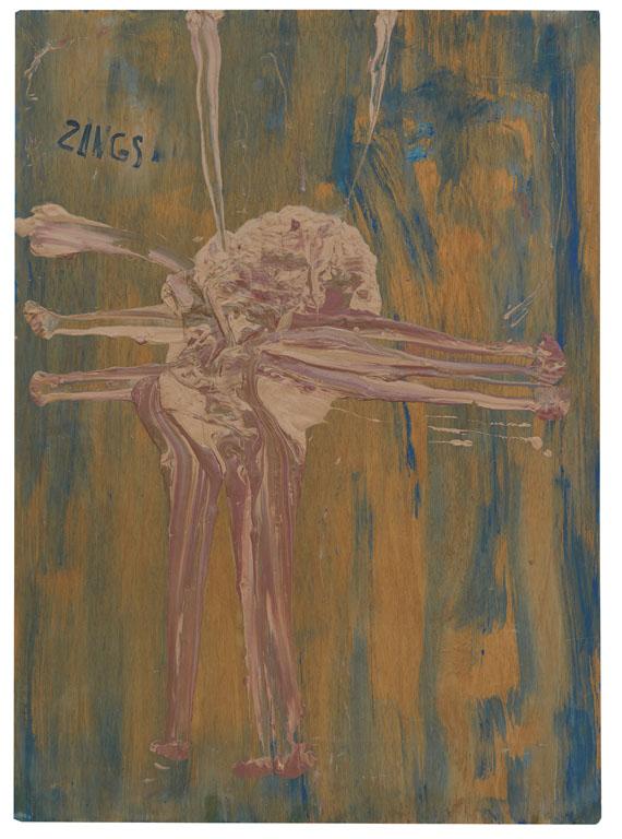 Herbert Zangs - Ohne Titel (Relief-Gemälde)