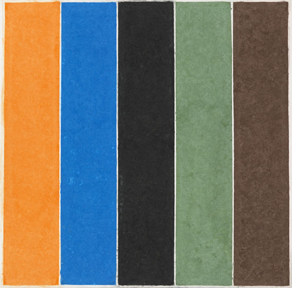 Ellsworth Kelly - Coloured Paper Image XXI (Orange Blue Black Green Brown)