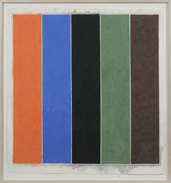 Ellsworth Kelly - Coloured Paper Image XXI (Orange Blue Black Green Brown) - Frame image