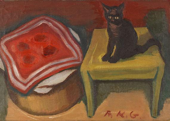 Friedrich Karl Gotsch - Katze auf dem Tisch
