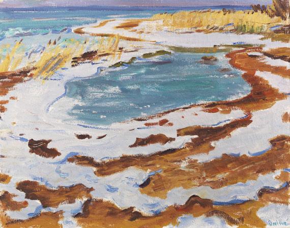Arnold Balwé - Strand im Winter