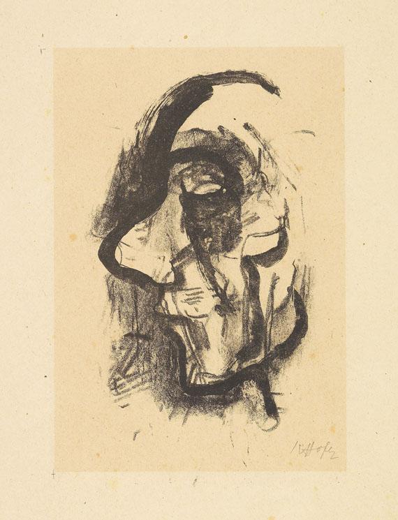 Karl Hofer - Konvolut: Mädchenakt. Weiblicher Halbakt mit aufgestütztem Kopf - Weitere Abbildung