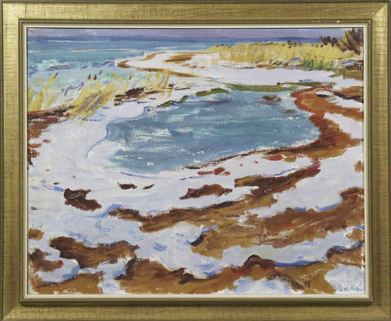 Arnold Balwé - Strand im Winter - Rahmenbild