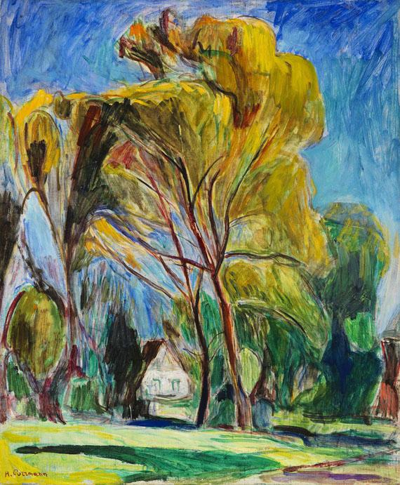 Purrmann - Haus unter Bäumen