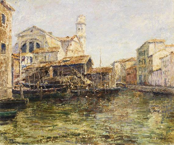 Otto Pippel - Alte Schiffswerft in Venedig