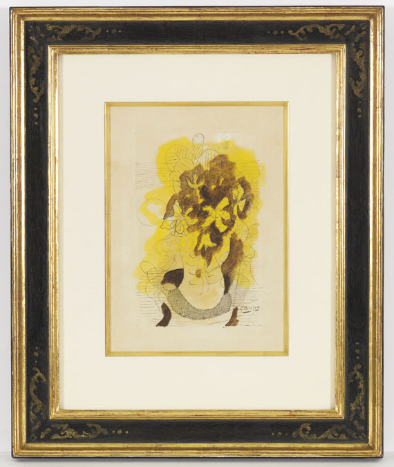 Georges Braque - Nature morte aux fleurs - Frame image