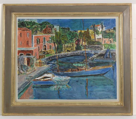 Hans Purrmann - Der Hafen von Porto d'Ischia - Rahmenbild