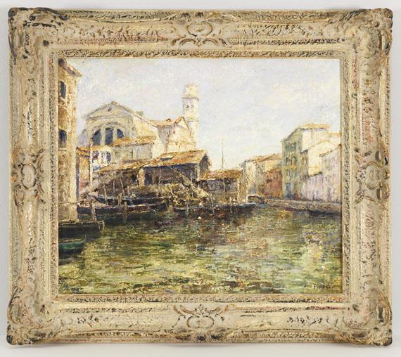 Otto Pippel - Alte Schiffswerft in Venedig - Rahmenbild