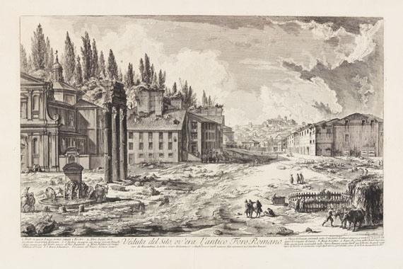 Giovanni Battista Piranesi - Veduta del Sito, ov'era l'antico Foro Romano