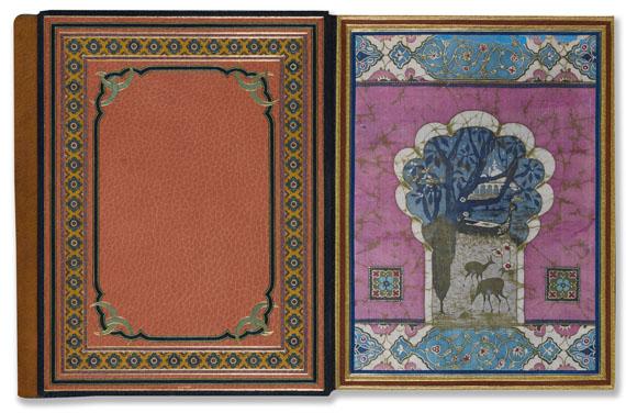 Franz Toussaint - Le jardin des Caresses. 1914 - Meistereinband. -