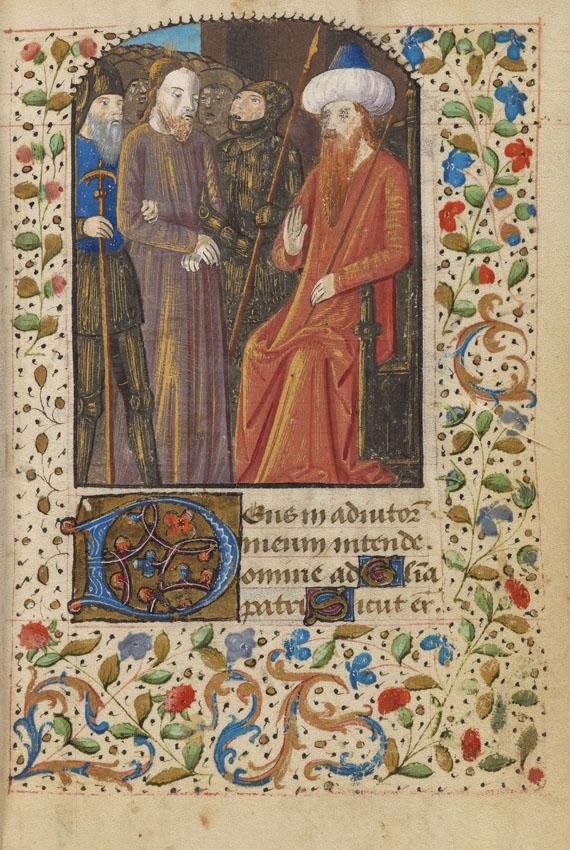 Manuskripte - Stundenbuch. Pergamenthandschrift, Frankreich um 1500