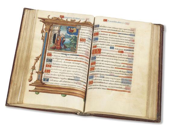 Manuskripte - Stundenbuch. Pergamenthandschrift, Paris um 1520. -