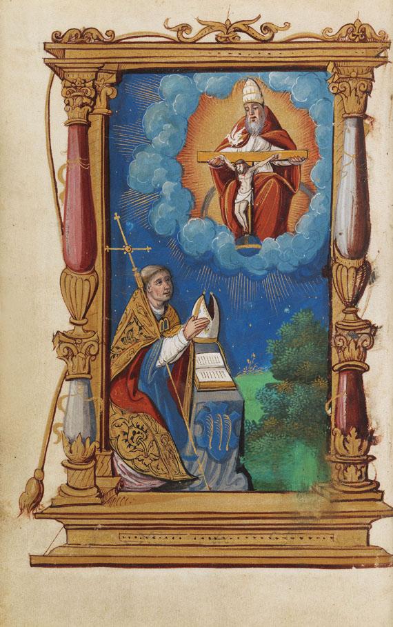 Manuskripte - Stundenbuch. Pergamenthandschrift, Paris um 1520.