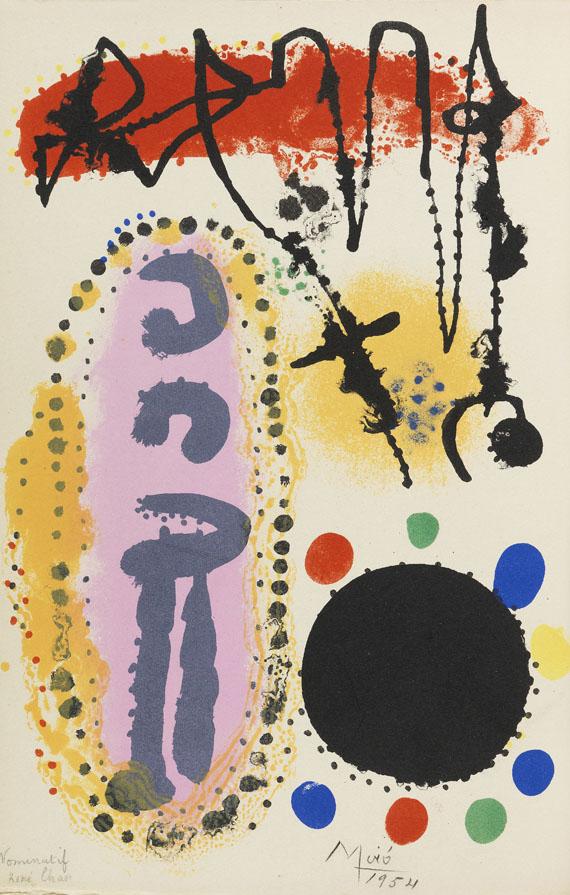René Char - A la santé du serpent. Mit Orig.-Lithographie von J. Miró