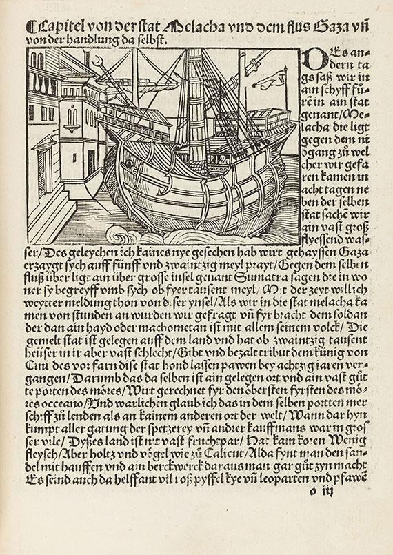Ludwig de Varthema - Die ritterlich und lobwirdig Rays. Augsburg 1515.