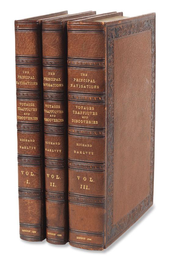 Richard Hakluyt - The Principal Navigations. 3 Bände