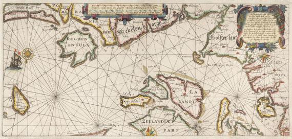 Atlantik - 10 Bll. Seekarten des Atlantik/Ostsee/Pazifik/Mittelmeer.