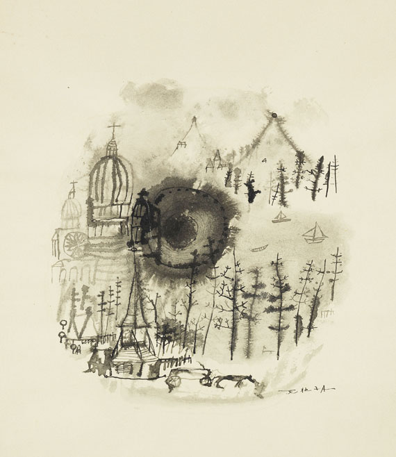 Zao Wou-Ki - Harry Roskolenko: Paris Poems