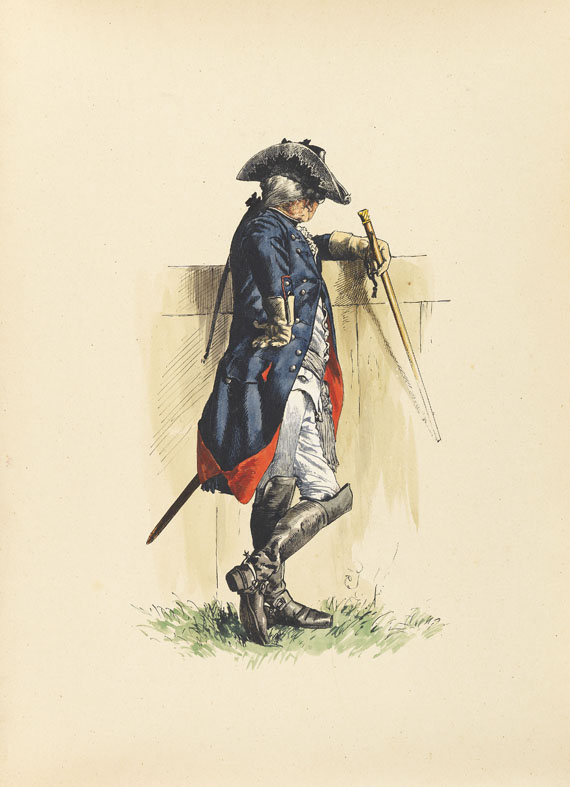 Adolph von Menzel - Armeewerk Friedrichs d. Gr. 6 Bde. (Werner-Exemplar) -