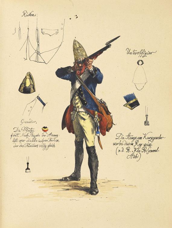 Adolph von Menzel - Armeewerk Friedrichs d. Gr. 6 Bde. (Werner-Exemplar)
