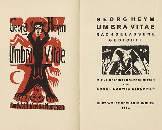 Ernst Ludwig Kirchner - Georg Heym, Umbra Vitae